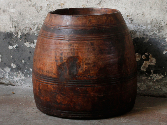 View our  Large Vintage Wooden Bowl from the  Sold collection