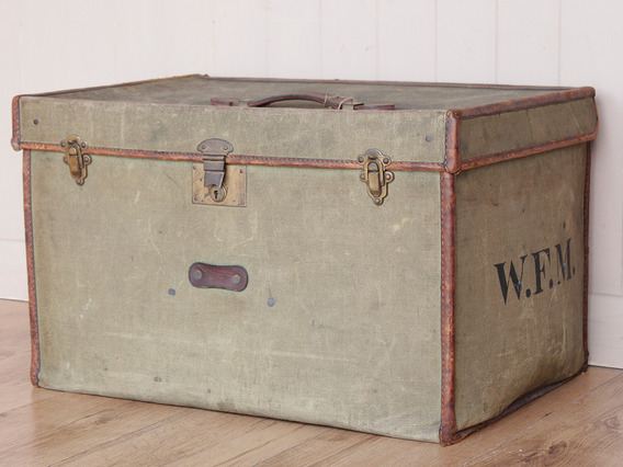 View our  Leather And Canvas Travel Trunk from the   collection