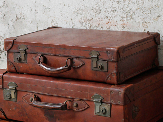 View our  Old Leather Suitcase By Cleghorn from the  Sold collection