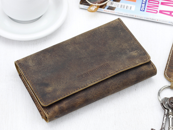 Leather Tri Fold Smartphone Wallet