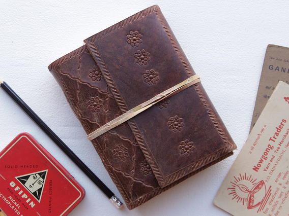 View our  Medium Leather Journal Embossed from the   collection