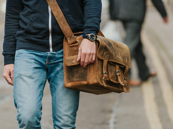 View our Men Medium Overlander Leather Satchel 16 Inch from the Men Back to School/Uni collection