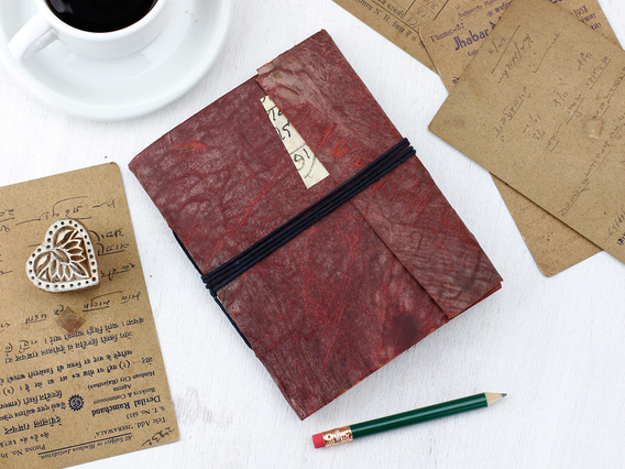 View our  Medium Vintage Leather Journal from the   collection