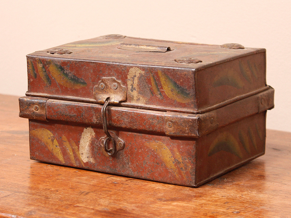 View our  Old Painted Money Box from the  Old Travel Trunks collection