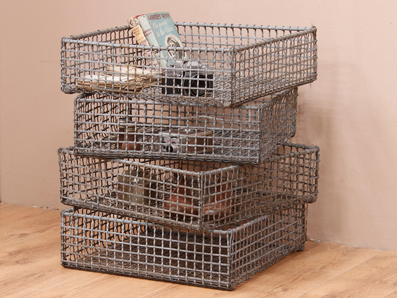 Industrial Metal Caged Storage Rack