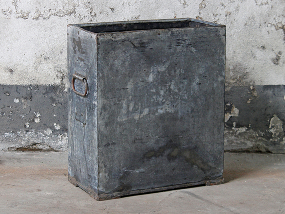View our  Vintage Metal Bin from the  Old Travel Trunks collection