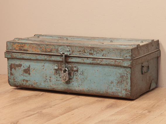 View our  Vintage Blue Metal Travel Suitcase from the   collection
