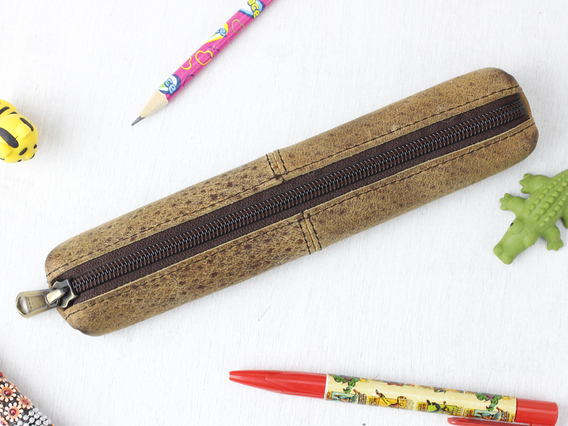 View our  Mini Leather Pencil Case from the   collection