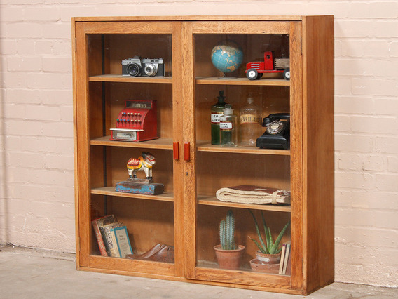 View our Women Vintage Oak School Cabinet from the Women Sold collection