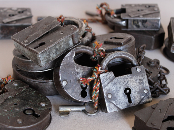 Antique Iron Padlock