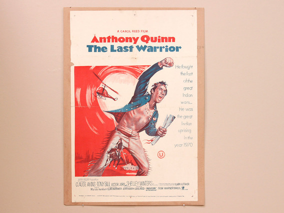 View our  Original 'The Last Warrior' Anthony Quinn Cinema Poster from the  Vintage Postcards & Posters collection