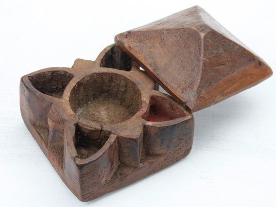 View our  Ornate Spice Pot from the  Vintage Wooden Pots collection