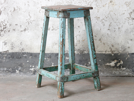 Blue Kitchen Stool