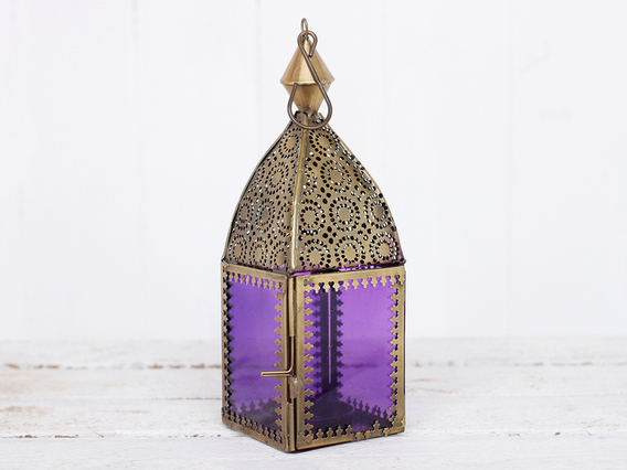 View our  Purple Glass Lantern from the   collection