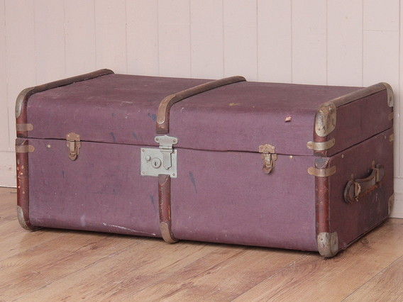 View our  Purple Steamer Trunk from the   collection