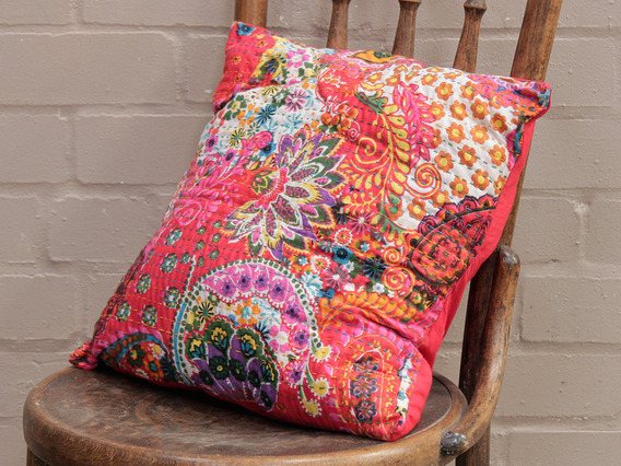 Red Floral Cushion Cover