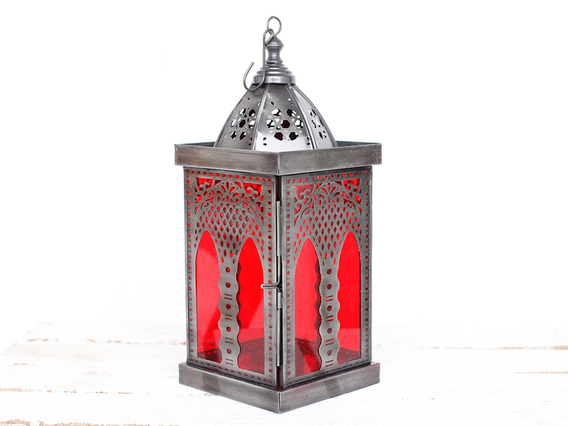 Large Red Moroccan Style Lantern