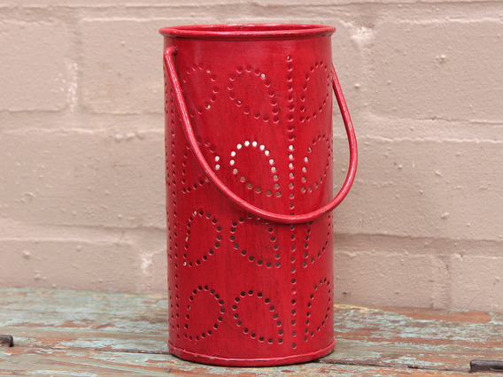 View our  Red Painted Lantern from the  Vintage Art  collection