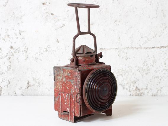 Vintage Red Railway Lamp  Medium