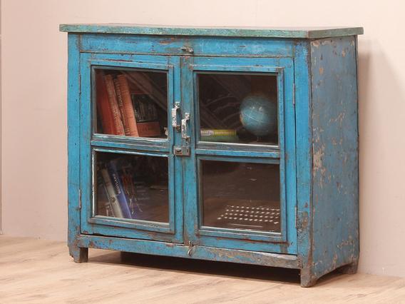 Vintage Blue Display Cabinet