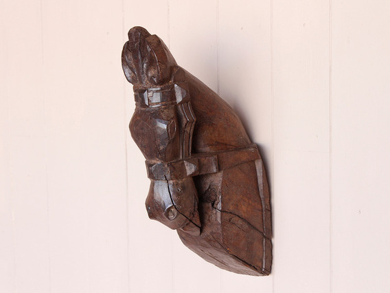 View our  Rustic Carved Horse Head from the  Vintage Art  collection