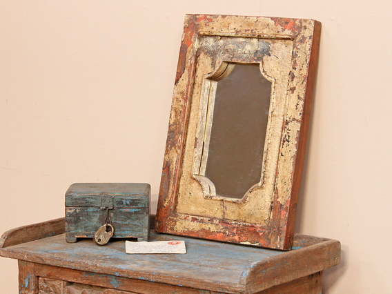 View our  Rustic Cream Coloured Mirror from the   collection