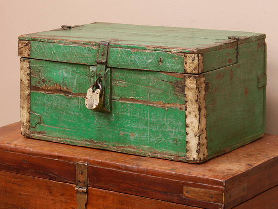 Rustic Green Chest