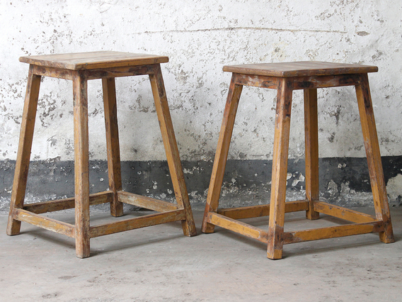 View our  Vintage Stool from the  Old Chairs, Stools & Benches collection