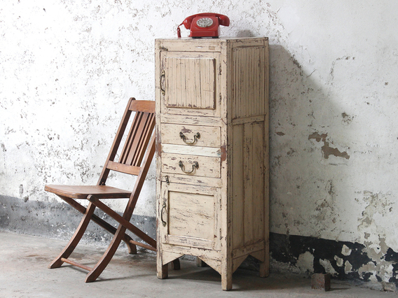 View our  Rustic White Vintage Cabinet from the  Sold collection