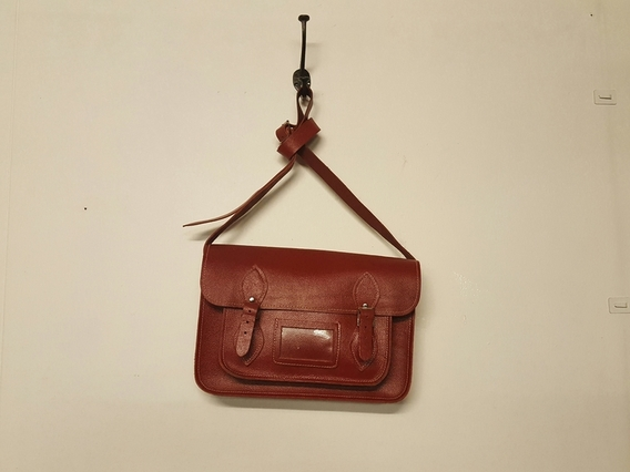 View our  SECONDS Classic Red leather satchel 13 inch from the  Sold collection