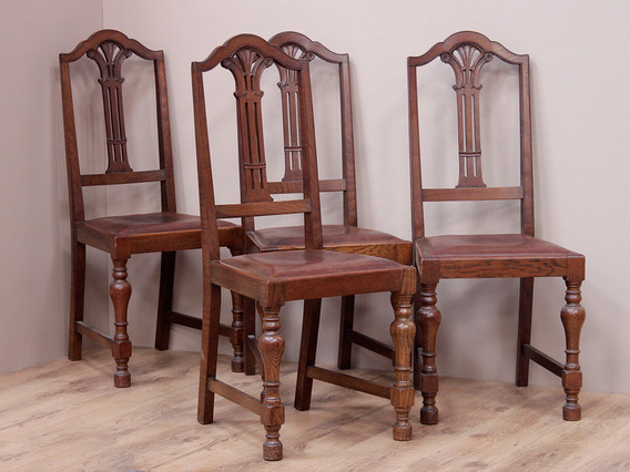 View our  Set of Four Antique Oak Chairs from the   collection