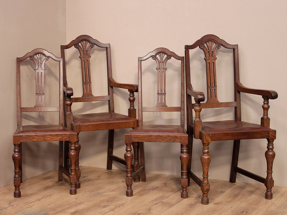 View our  Set of Oak Dining Chairs (4 Chairs) from the   collection