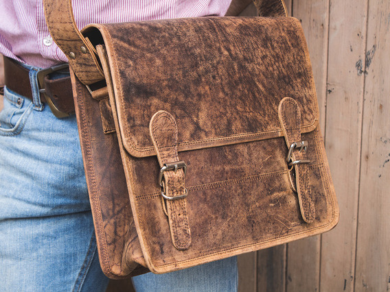 Small Leather Satchel 13 Inch