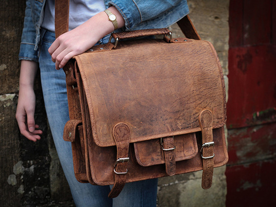 View our  Boys And Girls Leather School Bag from the   collection