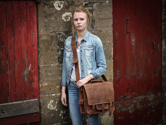 View our Junior Boys And Girls Leather School Bag from the Junior Back to School/Uni collection