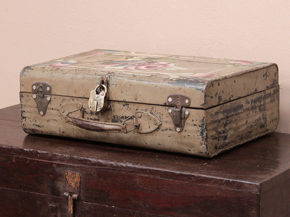 View our  Small Painted Metal Suitcase from the   collection