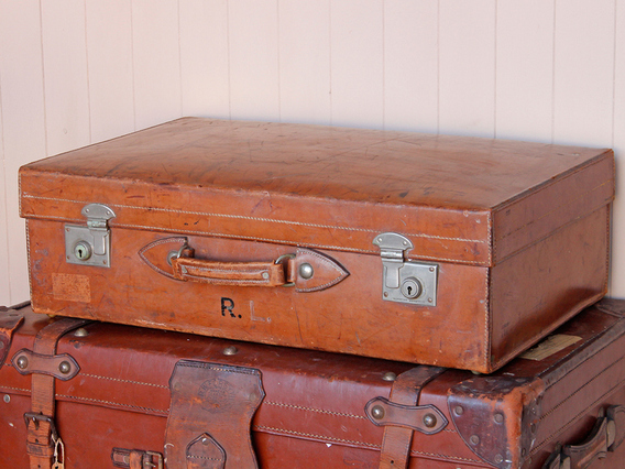View our  Tan Leather Suitcase from the   collection