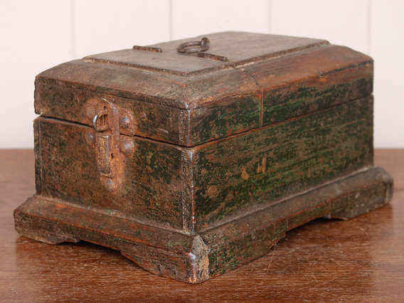 View our  Vintage Green Fold-Out Shaving Box from the  Old Wooden Chests, Trunks & Boxes collection