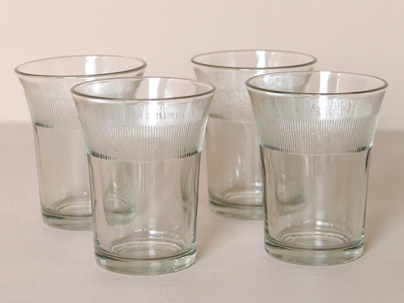 Traditional Fluted Chai Glasses (set of 4)