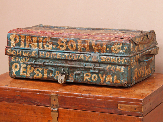View our  Old Hand-Painted Metal Trunk  from the   collection