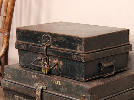View our  Small Metal Trunk from the   collection