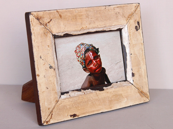 Upcycled Beige Photo Frame