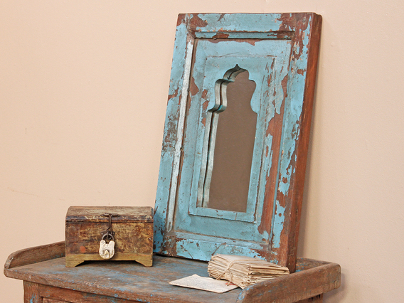 View our  Vintage Blue Mirror from the  Wooden Mirrors collection