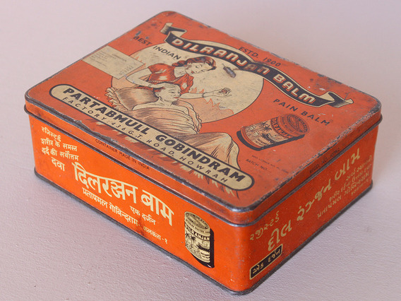 Vintage Medicine Storage Tin