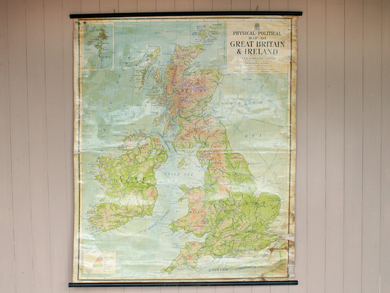 View our  Vintage Canvas UK Map from the   collection