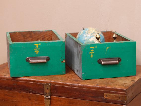 Vintage Green Storage Drawer