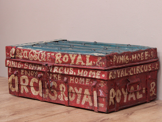View our  Vintage Painted Metal Trunk from the   collection
