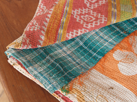 View our  Vintage Kantha Blanket from the  For The Home collection