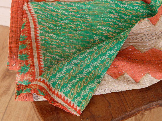 View our  Vintage Kantha Blanket from the   collection