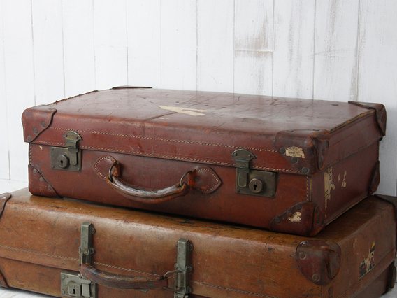View our  Vintage Leather Suitcase from the  Vintage Suitcases collection